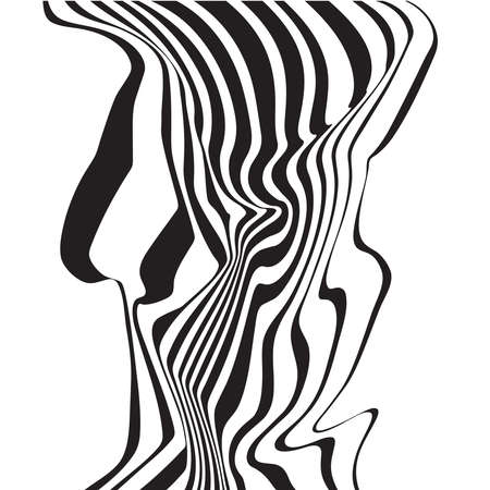 escher: optical art opart striped wavy background abstract waves black and white