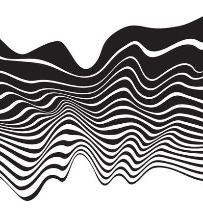 arte optico: �ptico arte dise�o de fondo de onda blanco y negro