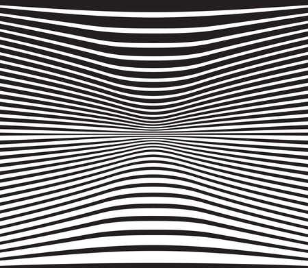 arte optico: óptico arte diseño de fondo de onda blanco y negro