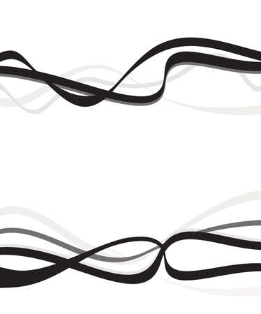 distort: Abstract art design, Abstract background with curvy, curved lines wave gray shapes
