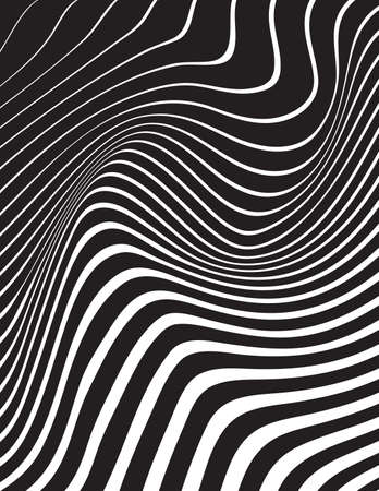 arte optico: optical art background wave design black and white