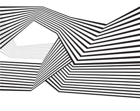 mobius: black and white mobious wave stripe optical abstract design Illustration