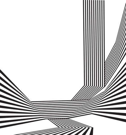 lineas verticales: raya onda Mobious blanco y negro diseño abstracto óptica