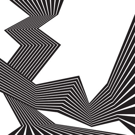 mobius loop: black and white mobious wave stripe optical abstract design Illustration