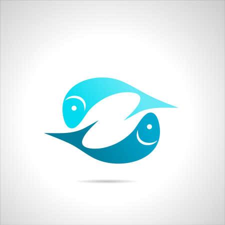 underwater ocean: fish icon, symbol silhouette sign element clip art