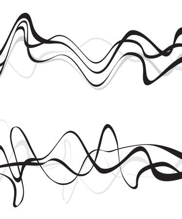 Abstract art design, Abstract background with curvy, curved lines wave gray shapes