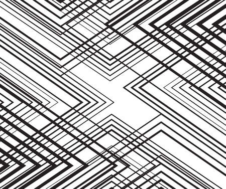 white wave: black and white mobious wave stripe optical abstract design Illustration