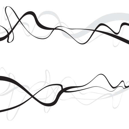 conception d'art abstrait, résumé, fond, courbes, lignes courbes des vagues formes grises
