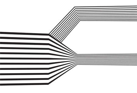 black and white mobious wave stripe optical abstract design Vectores