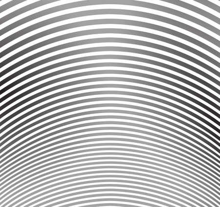 arte optico: blanco y negro de la raya de la onda Mobious diseño del arte óptico Vectores