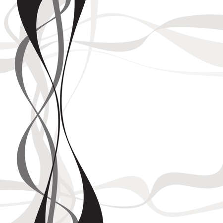 distort: Abstract art vector. Abstract background with curvy, curved lines, shapes.