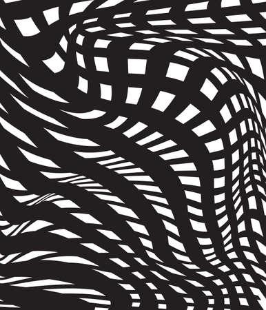 arte optico: óptico arte fondo blanco y negro, op-arte abstracto en blanco y negro