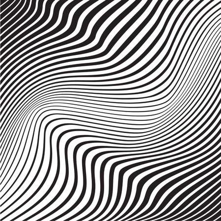 white wave: optical art background wave design black and white