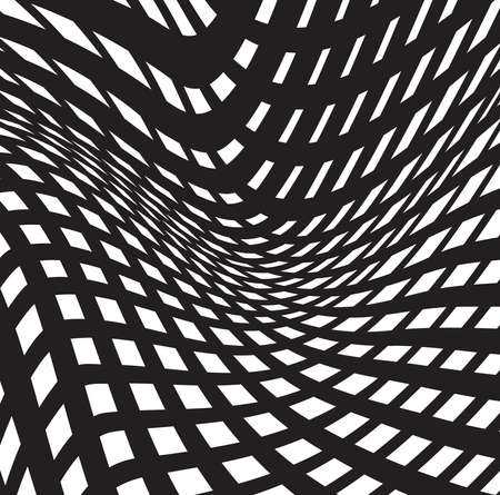 tunnel vision: optical art background black and white, op-art black and white abstract