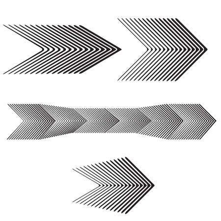 turning point: black and white arrow forward graphic design set