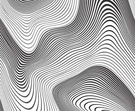 mobius: optical art background wave design black and white
