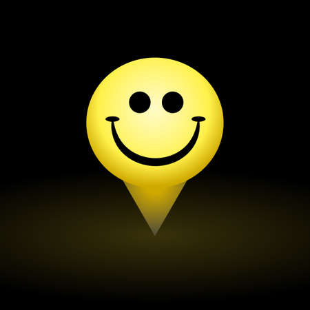 happyness: Smiley icon, smile face yellow symbol of happyness Illustration