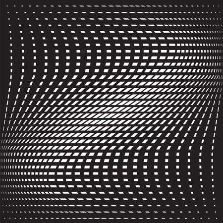 art optique opart rayures ondulées fond vagues abstraites en noir et blanc