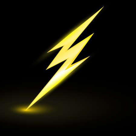 eps picture: lightning symbol, electrical sign, danger, energy icon 3d Illustration