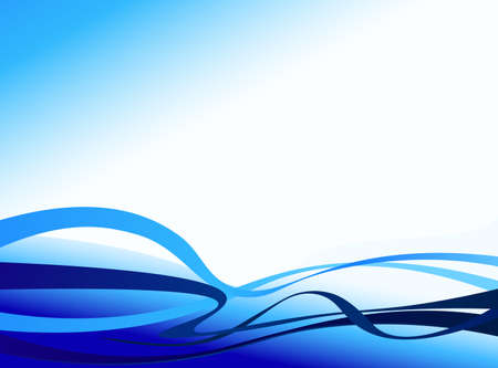 blue design waves, business background abstract corporate design Illustration