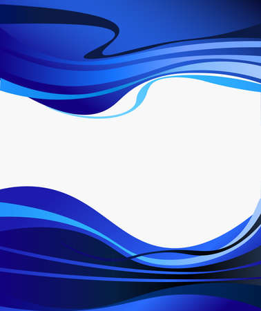 eps picture: blue design waves, business background abstract corporate design Illustration