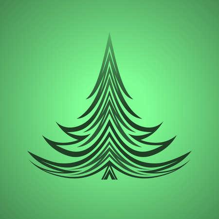 xmas background: christmas tree xmas green background design element