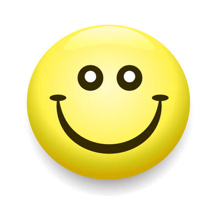 Smiley icône, sourire symbole visage jaune de gaité Banque d'images - 53863670
