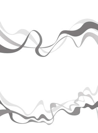 twisty: Abstract grey wave isolated on white background. Vector illustration for modern business design. Futuristic wallpaper. Cool element for presentation