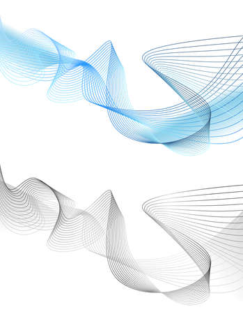 Abstract grey wave isolated on white background. Vector illustration for modern business design. Futuristic wallpaper. Cool element for presentation