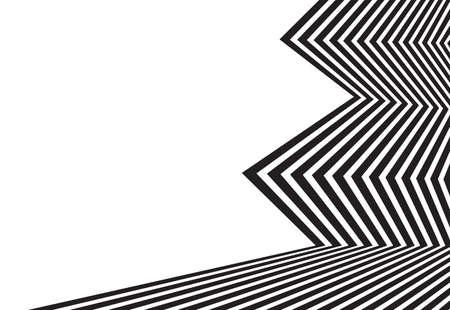 arte optico: arte óptico, opart antecedentes rayas onduladas. ondas abstractas en blanco y negro rayas línea Vectores