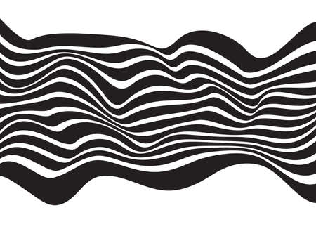 originally: optical art opart striped wavy background abstract waves black and white