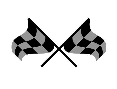 two crossed checkered flags: race flag  crossed checkered flag black and white