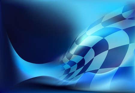 course drapeau fond illustration vectorielle