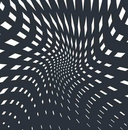 arte optico: arte óptico opart rayas onduladas de fondo resumen olas de rejilla blanco y negro Vectores