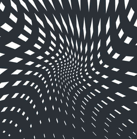 trickery: optical art opart striped wavy background abstract waves black and white grid