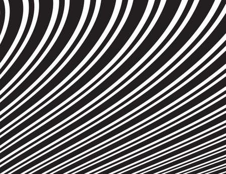 arte optico: Ondas del extracto del arte óptico opart rayas onduladas fondo blanco y negro