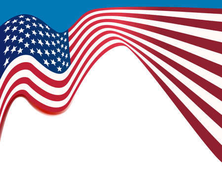 national colors: american flag background, usa national colors wavy background Illustration