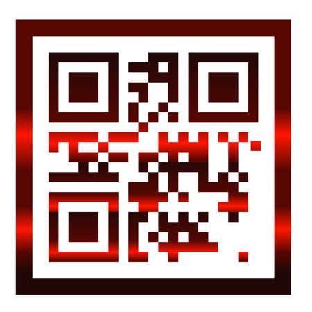 qr code scan illustration identifying scanner
