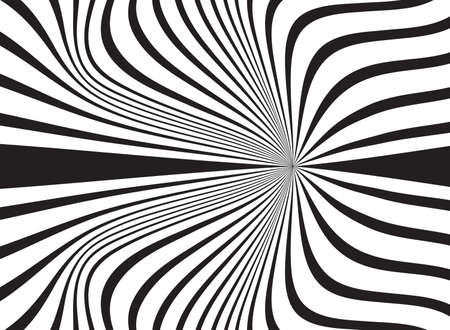 abstract background, vortex black and white design template Illustration
