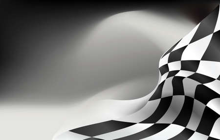 checkered flag background vector race design Ilustrace