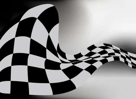checkered flag background vector race design Illustration