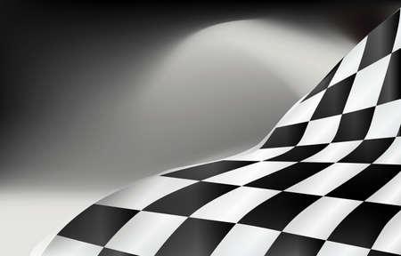 Checkered Flagge Hintergrund Vektor Race Design Standard-Bild - 86626122