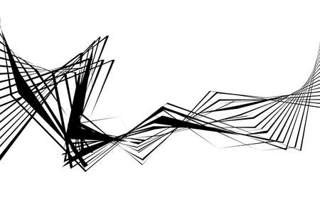 Black and white stripe line abstract graphic optical art. Illustration