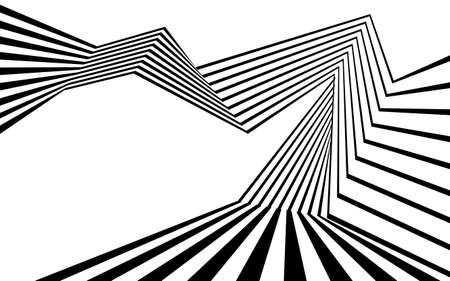 Black and white stripe line abstract graphic optical art. Illusztráció