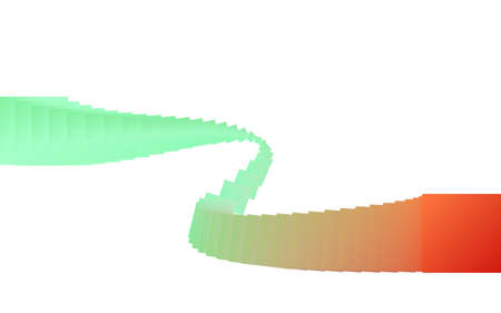 Squares blend abstract wave background illustration.
