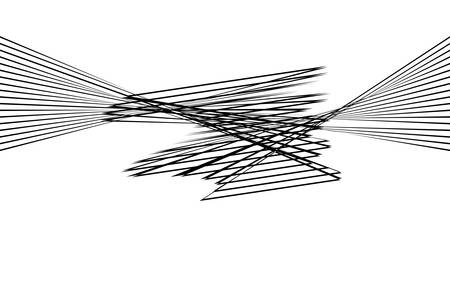 Black and white stripe line abstract graphic optical art. 矢量图像
