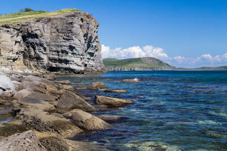 russkiy: Beach on Russkiy island, Vladivostok, Russia Stock Photo