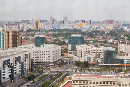 Aerial panorama of Astana, Kazakhstan