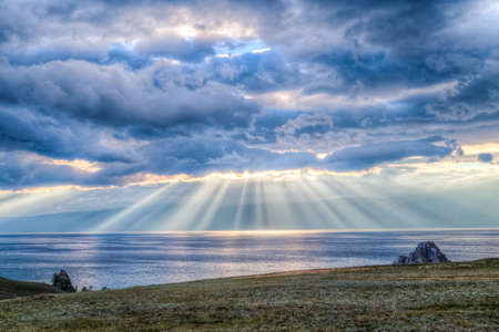 Sunset, Lake Baikal photo