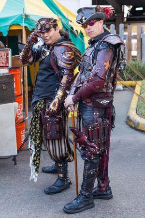 dickens: Galveston, TXUSA - 12 06 2014: Men dressed as fantasy pirates at Dickens on the Strand Festival in Galveston, TX